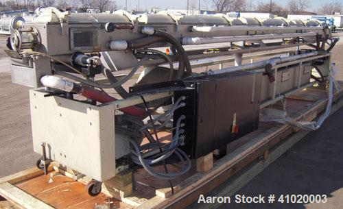 "Used- Conair Vacuum Sizing Tank, Model MT104-22-5, 304 Stainless Steel. 12"" wide x 265"" long x 7"" deep. Includes a holding t..."