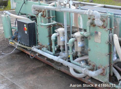 "Used- Conair Metaplast Vacuum Sizing Tank, Model MVS3-14-SP L-R, 304 stainless steel. 28"" wide x 12"" deep x 164"" long. No to..."