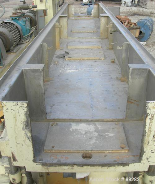 "Used- Conair Gatto Vacuum Sizing Tank, Model WPT13-3, 304 stainless steel. 24"" wide x 11-1/2"" deep x 13' long, 3 sections, n..."