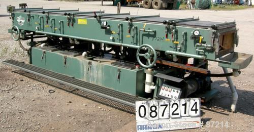 "USED: Conair Metaplast vacuum sizing tank, stainless steel. 28"" wide x 14' long x 13"" deep. Includes (2) 5 hp pumps, (2) 2 h..."