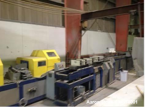 """Used- CPE Poltrusion Machine. 4"""" x 12"""" Poltrusion window. 5-10 thousands of pull. Includes winder, (4) different dies, resin..."""