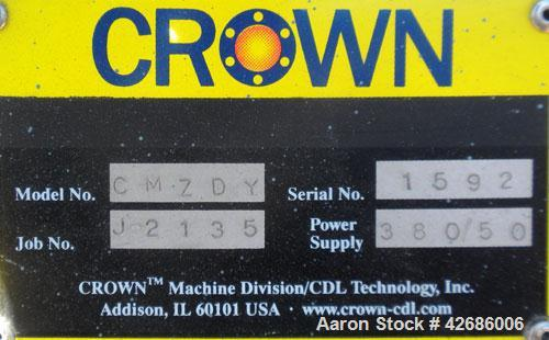 "Used- Crown Vacuum Calibrating Table, Model CMZDY. Stainless steel pan 24"" wide x 231"" long x approximately 3-3/4"" deep. 2. ..."