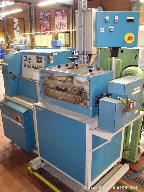 Used-Krupp Bellaform Pipe/Profile Extrusion Line consisting of: (1) Krupp single screw extruder, 45 mm diameter screw, 25:1 ...