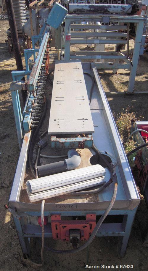 "Used- Profile Tool Calibration Table. Trough measures 44"" wide x 28' long. Includes a water harness and vacuum pumps. Last u..."