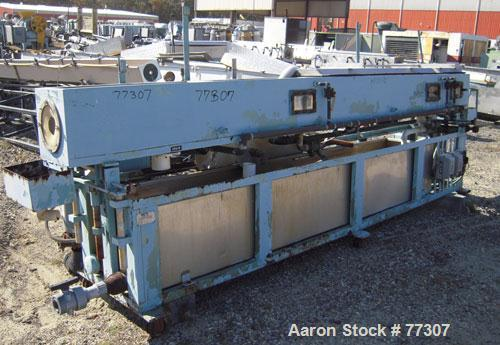 "Used- OEM Vacuum Sizing Tank, Model OEM VTF, Stainless Steel. 14"" wide x 14"" deep x 168"" long. 3 section with 2 covers. 7-1/..."