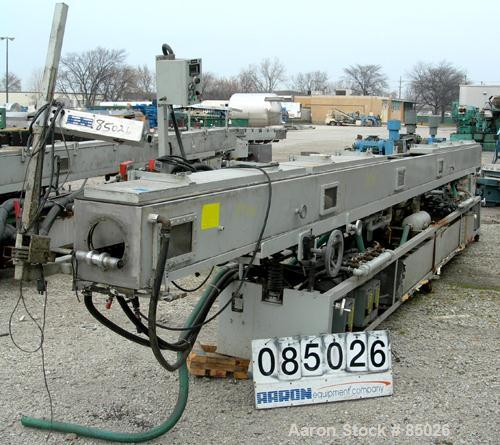 """Used- RDN Vacuum Sizing Tank, Model 4D-3V-2T-30, 304 Stainless Steel. 11-1/2"""" wide x 11-1/2"""" deep x 360"""" long. Includes hold..."""