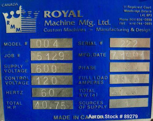 "Used- Royal Machine Vacuum Calibration Table, model 004, consisting of: (1) 26"" wide x 118"" long x 2"" deep 304 stainless ste..."