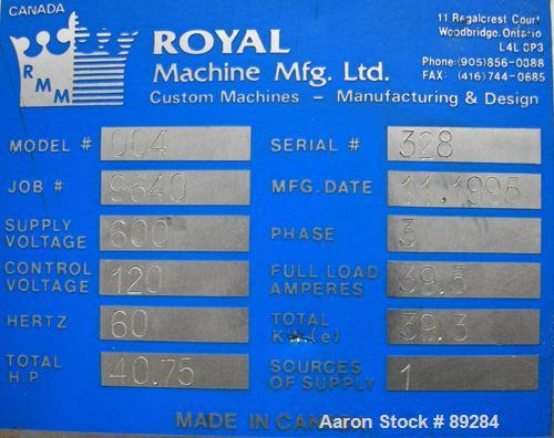 """Used- Royal Machine Vacuum Calibration Table, model 004, consisting of: (1) 26"""" wide x 118"""" long x 2"""" deep 304 stainless ste..."""