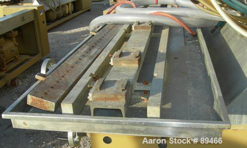 """USED: Royal Machine vacuum calibration table, model 004, consisting of: (1) 26"""" wide x 118"""" long x 2"""" deep stainless steel p..."""