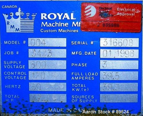 """USED: Royal Machine vacuum calibration table, model 004, consisting of (1) 26"""" wide x 118"""" long x 2"""" deep stainless steel pa..."""