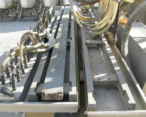 "Used- Royal Machine Dual Lane Vacuum Calibration Table, model 009, consisting of: (1) 17-1/2"" wide x 142"" long x 2"" deep 304..."