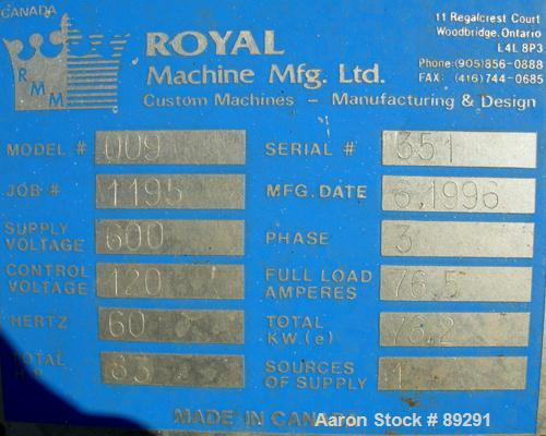 "Used- Royal Machine Dual Lane Vacuum Calibration Table, model 009, consisting of: (1) 17-1/2"" wide x 142"" long x 2"" deep 304..."