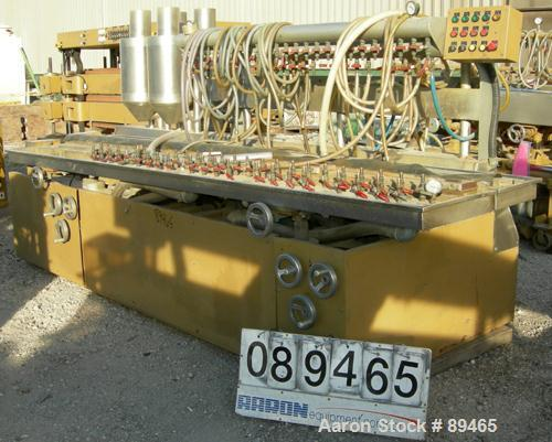 "USED: Royal Machine dual lane vacuum calibration table, model 009, consisting of: (1) 17-1/2"" wide x 142"" long x 2"" deep sta..."
