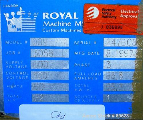 "USED: Royal Machine vacuum calibration table, model 009, consisting of (1) 17-1/2"" wide x 142"" long x 2"" deep stainless stee..."