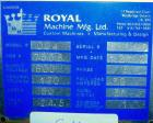 USED: Royal Machine vacuum calibration table, model 004, consisting of (1) 26