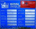 USED: Royal Machine vacuum calibration table, model 004, consisting of (1) 26