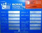 USED: Royal Machine dual lane vacuum calibration table, model 009, consisting of (1) 17-1/2