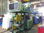 Used-Pipe Extrusion Line used for corrugated drainage pipes. Comprised of: (1) Theysohn PAR twin screw extruder. (1) Die hea...