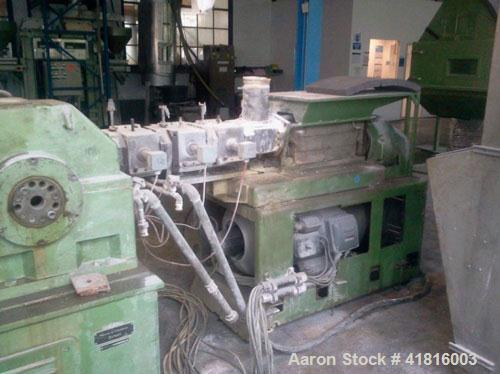 "Used-Werner Pfleiderer ZDK-K 83 / ESA 200 Extrusion Line.  (1) ZDK-K 83 co-rotating twin screw extruder, screw diameter 3.2""..."