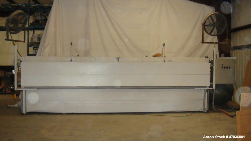 "Used- Vacuum Forming Machine for Making Signs. 4 zones, approximately 500 gallon vacuum tank. Opening dimensions 244"" length..."
