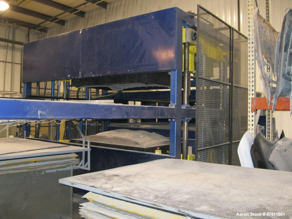 """Used- VeriMold Twin Sheet Horizontal Thermo Former. 80"""" x 116"""" mold capacity. 72"""" open die space. Opposing 84"""" x 96""""ceramic ..."""