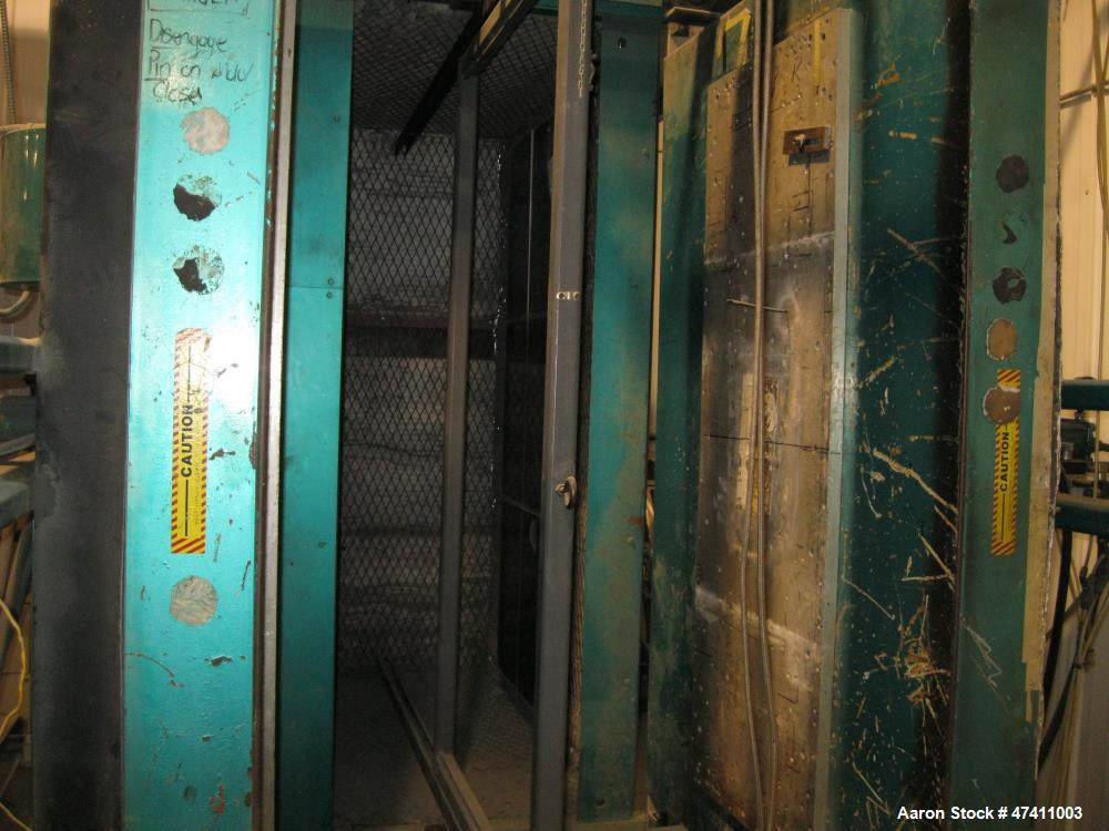 """Used- VeriMold Twin Sheet Thermo Former. 22"""" x 60"""" mold capacity. 30"""" open die space. Opposing ceramic heaters."""