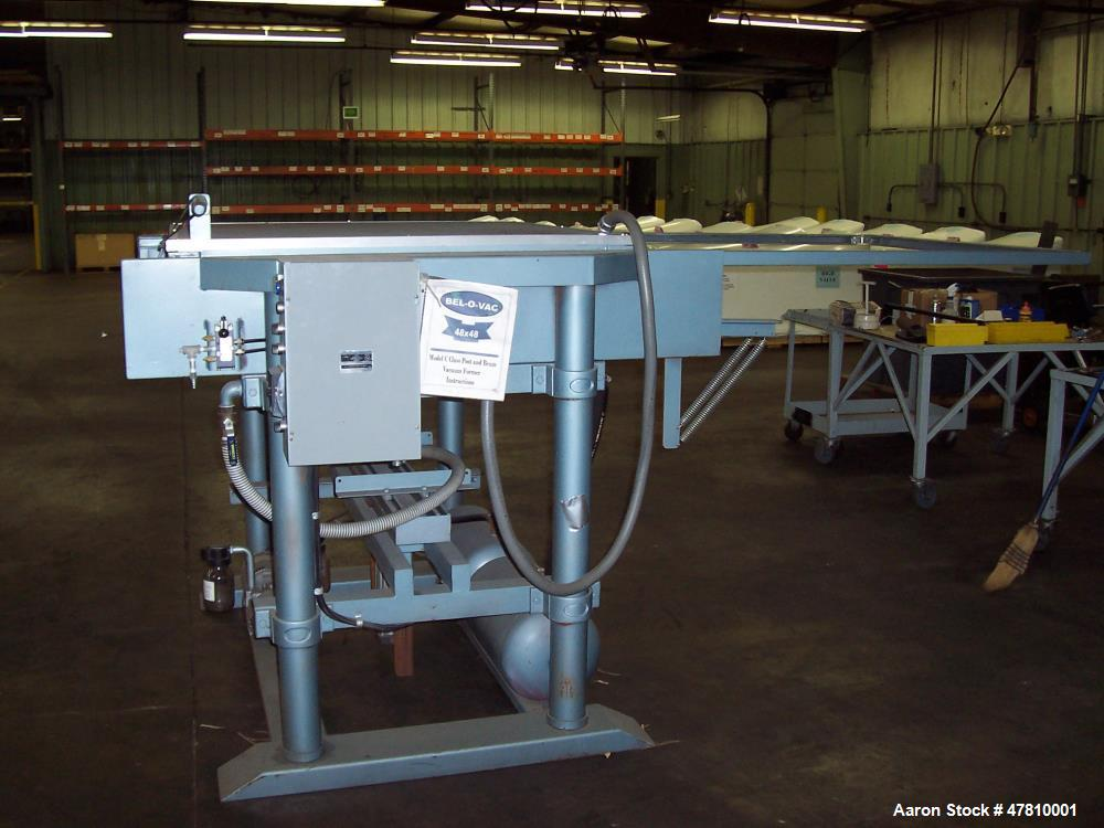 "Used- Bel-O-Vac, Model 48 X 48, Vacuum Former. Sheet Size 48"" x 48"". Draw depth of 22"". Fully adjustable material clamping. ..."