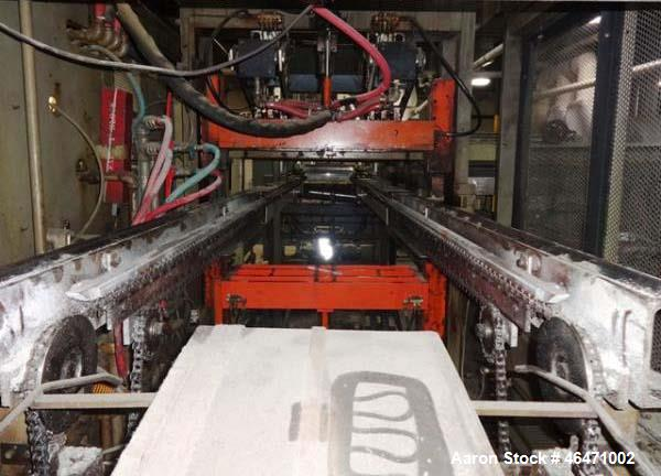 Used- Brown Inline Thermoforming System. (1) Brown model C3030 thermoformer serial# 11698, (1) Brown model 130T trim press s...