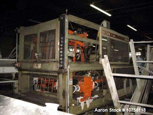 "Used- Brown CS-4500 Thermoforming Line with Trim Press. 1997 vintage. 40"" wide x 42"" long maximum mold size, 42"" maximum she..."