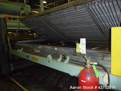 "Used- Irwin 50"" Wide Web Fed Thermoformer, Model 50-160, Type HT-LH. Maximum 50"" x 50"" mold, 160"" long clamshell oven with C..."