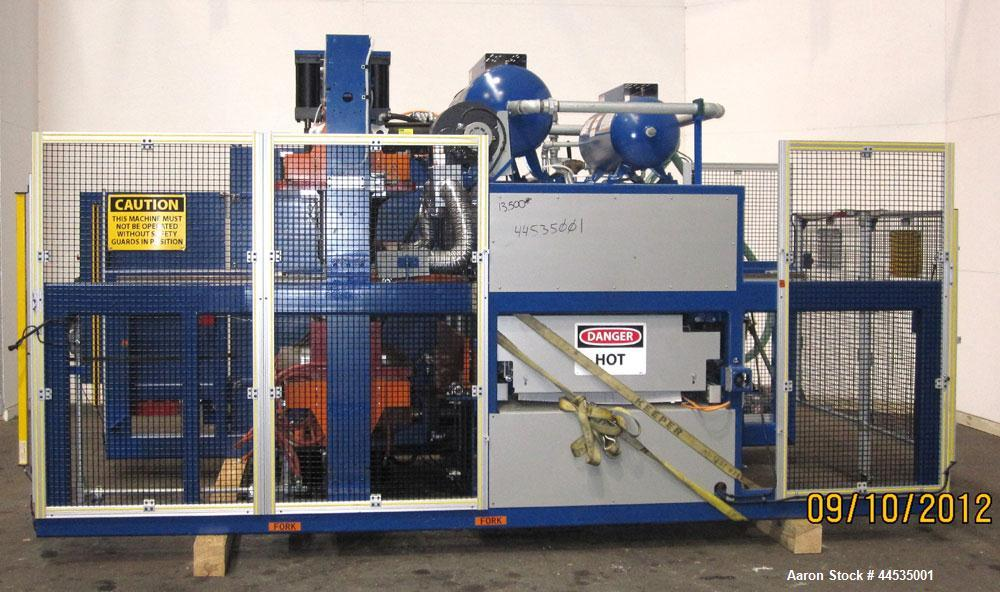"Used- Modern Machinery Shuttle Station Pressure / Vacuum Former Thermoformer, Model 2424 SSP. Maximum mold width 24"", maximu..."