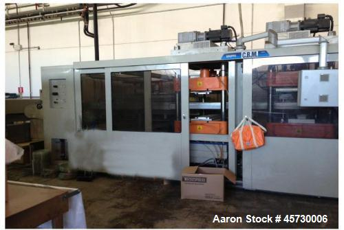 "Used- Moretti Thermoformer VPK C76. Effective thermoforming area 33"" x 26"" (840 x 650 mm). Max. stretch 5"" (130mm). Sheet le..."