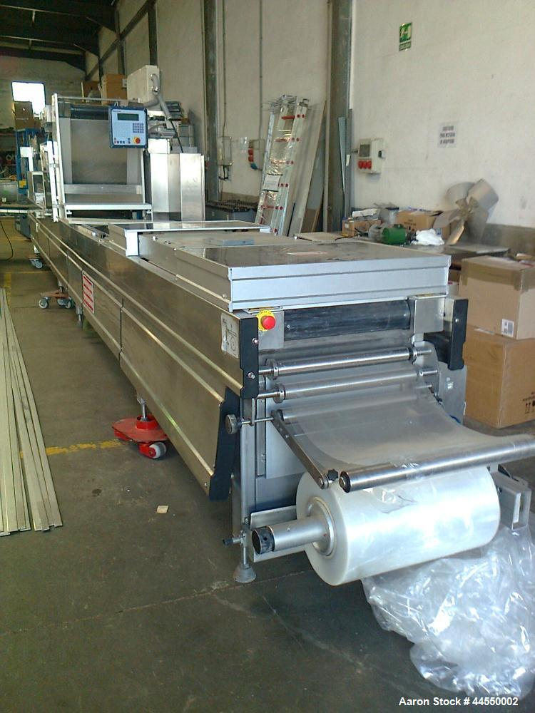 """Used-Multivac R570 CD Fully Automatic Roll Stock Thermoformer.  Including molds.  Film width 20.4"""" (520 mm).  Stainless stee..."""