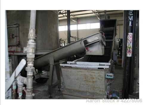 Used-Washing/Recycling Line for LDPE, LLDPE, HDPE, PD, PP and ABS.  Output 1322 lbs/hour (600 kg).  Comprised of:  (1) GTC 1...