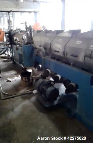 Used- OMP Prealpina Recycling Extrusion Line, Type ES180 35 L/D. Construction year 2007. Made of forced feeding unit with 9 ...