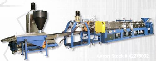 Used- OMP Prealpina Recycling Extrusion Line, Type ES180 40 L/D Double Degassing System. Construction year 2001. Made of : f...
