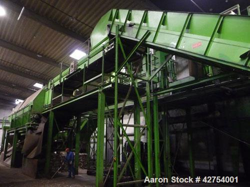 Used-Complete PET/Household Waste Sorting and Recycling Plant. Sorts polymers and colors, built in 2000, capacity of 4400 lb...