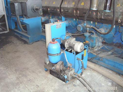 "Used-Amut EA 130 Single Screw Extruder with Materozza die cut. Screw diameter 5.12"" (130 mm), L/D 35/40, max screw speed 130..."