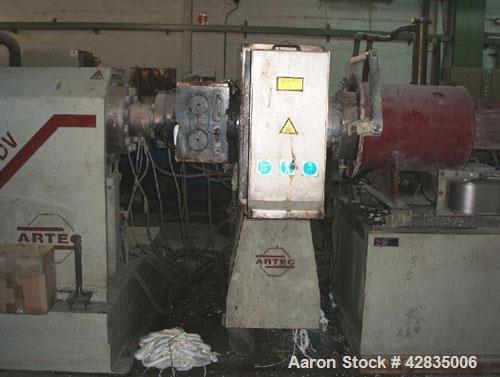 "Used-Artec 145 DV Recycling Line for LDPE/HDPE/PP/PS.  Screw diameter 5.7"" (145 mm).  Maximum output 860 kilos/h.  (1) Conve..."