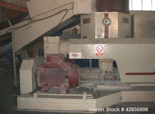 """Used-Artec 145 DV Recycling Line for LDPE, HDPE, PP, PS.  Screw diameter 5.7"""" (145 mm), maximum capcity 1873 lbs (850 kg), d..."""