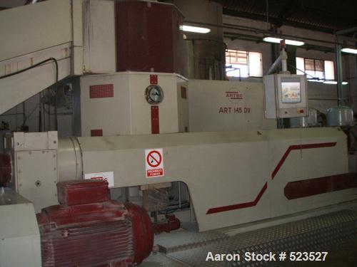 """USED: Artec 145DV recycling system. Artec extruder, screw diameter 5.7"""" (145mm), driven by a 200 kw (272 hp) motor 400V/50 h..."""