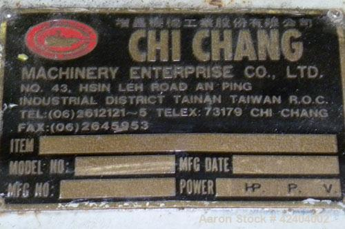 Used- Chi Chang Machinery Recycling Line Consisting Of: (1) Chi Chang Approximate 3-1/2'' single screw extruder, approximate...