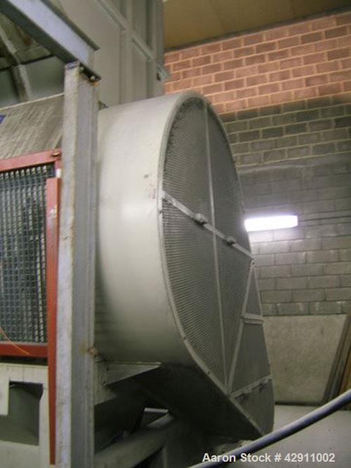 Used-Dreher Recycling Line, throughput 4000 kg/h, 4.4 tons per hour. Comprised of (1) Dreher S 100/160 granulator, 333.3 hp/...