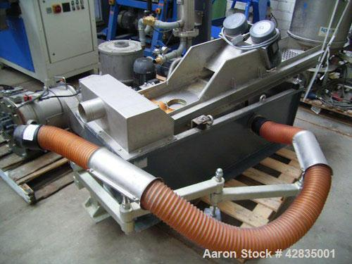 """Used-Erema RGA 100 VE Recycling Line. Screw diameter 3.9"""" (100 mm), output 771.5 lbs/hour (350 kg/h) depending on product, v..."""