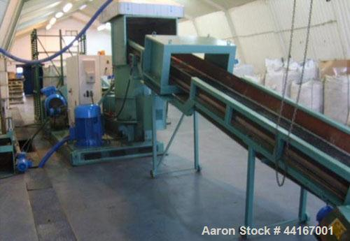 Used-RGA 100E Recycling and Granulating Line.  Maximum capacity 881 lbs/hour (400 kg) for LDPE, PP, HDPE.  Screw diameter 3....