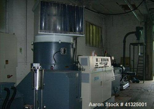 Used-Erema RGA 120 TVE granulating line consisting of conveying belt with all metal stop S+S, shredder/densifier 1200mm (47....