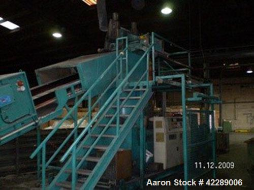 Used-Erema Recycling Line for LDPE, HDPE, PP, PS. (1) Belt conveyor FB 7000/1100, length 23' (7 meters). (1) Dust and sound ...