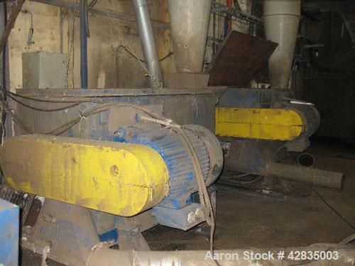 Used-Erema RGA 160/TVE C96 062 Plastic Recycling Line, capacity 2204 lbs/hour (1000 kg/h). Comprised of: (1) Plastic recycli...