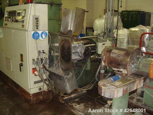 Used-Erema RGA 80 T Recycling Line, built 1995. Capacity 441 lbs/h (200 kg/h) of dry non-printed LDPE flexible film. Compris...