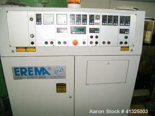 Used-Erema RGA 80 TVE granulating line for PE / PP, capacity up to 250 kg/h (550 pounds/h), consisting of conveying belt wit...
